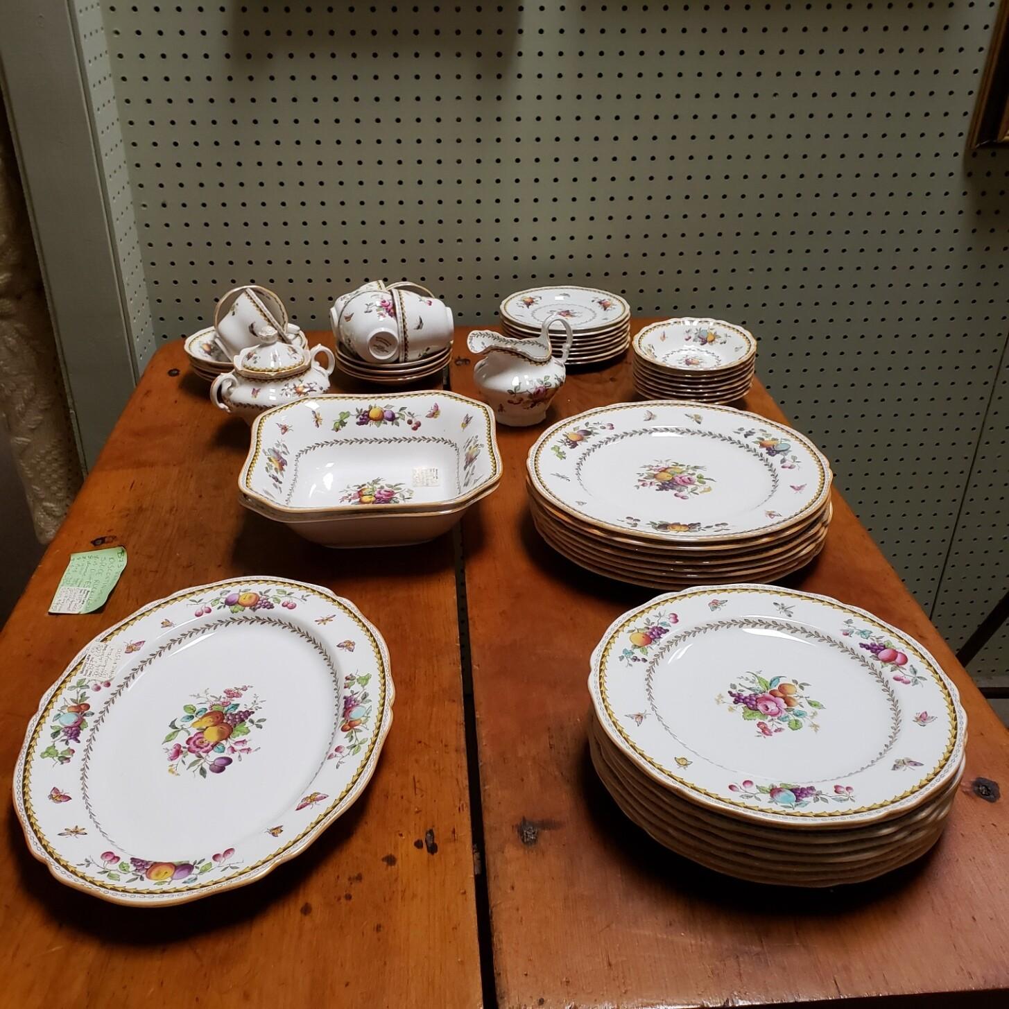 Rare Discontinued Spode Rockingham dishes 53 piece set