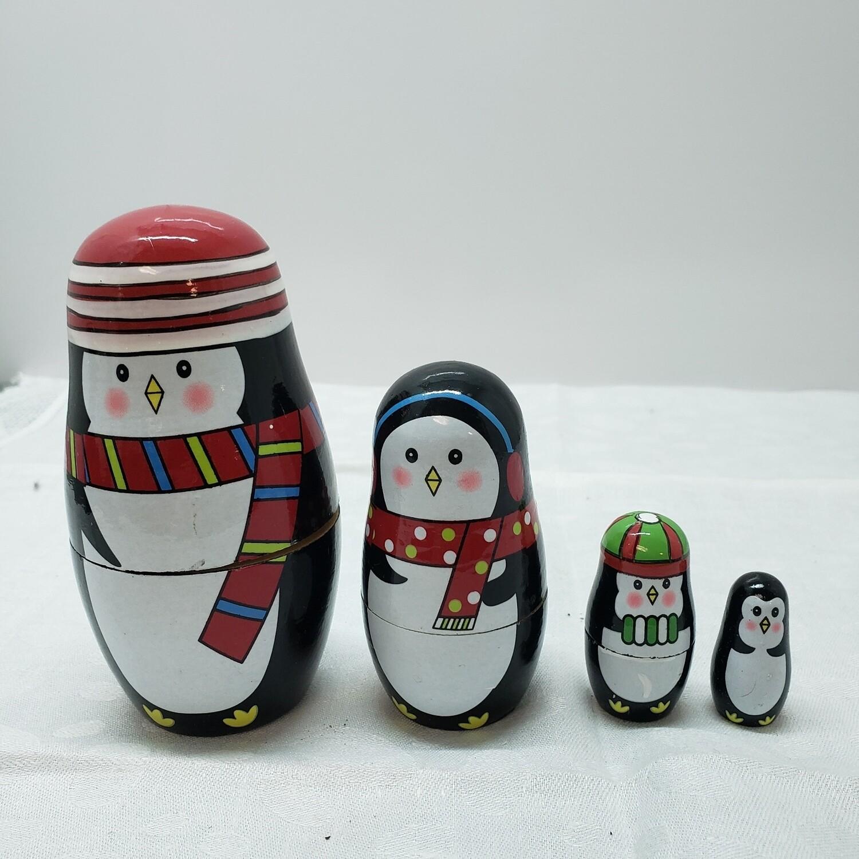 Stacking Penguins - 4 dolls