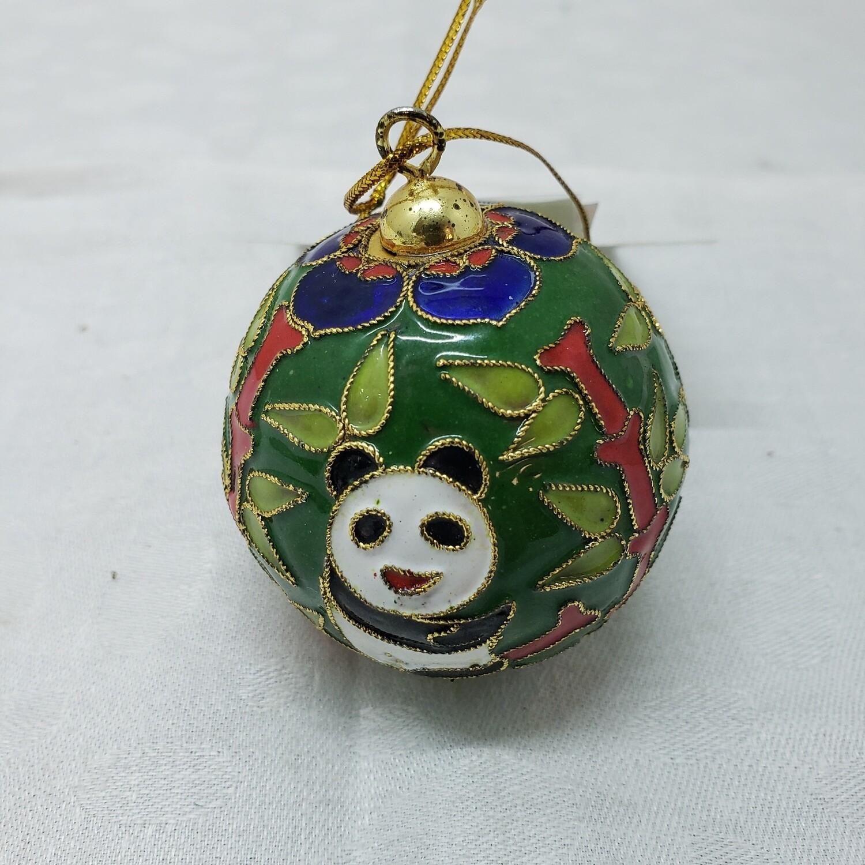 Cloisonné Christmas Bear Ball