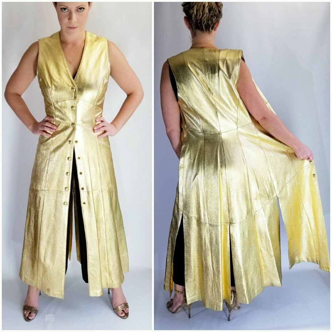 Early - Mid 1970s Gold Leather Tunic