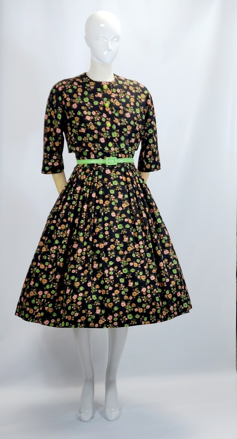Mid - Late 1950s Jonathon Logan Sun Dress & Bolero