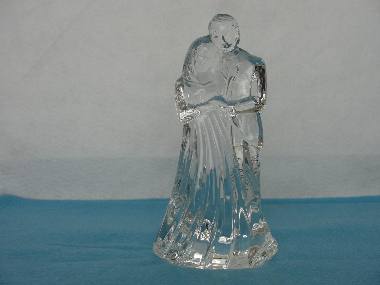 Waterford Bride Groom Crystal Statue