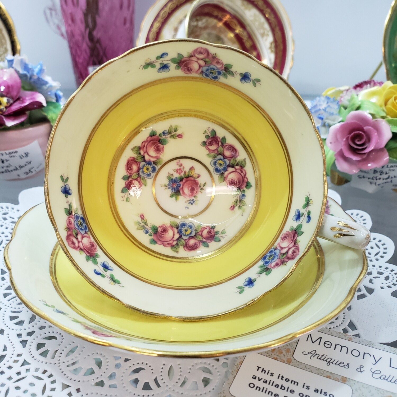 Paragon yellow rare teacup and saucer