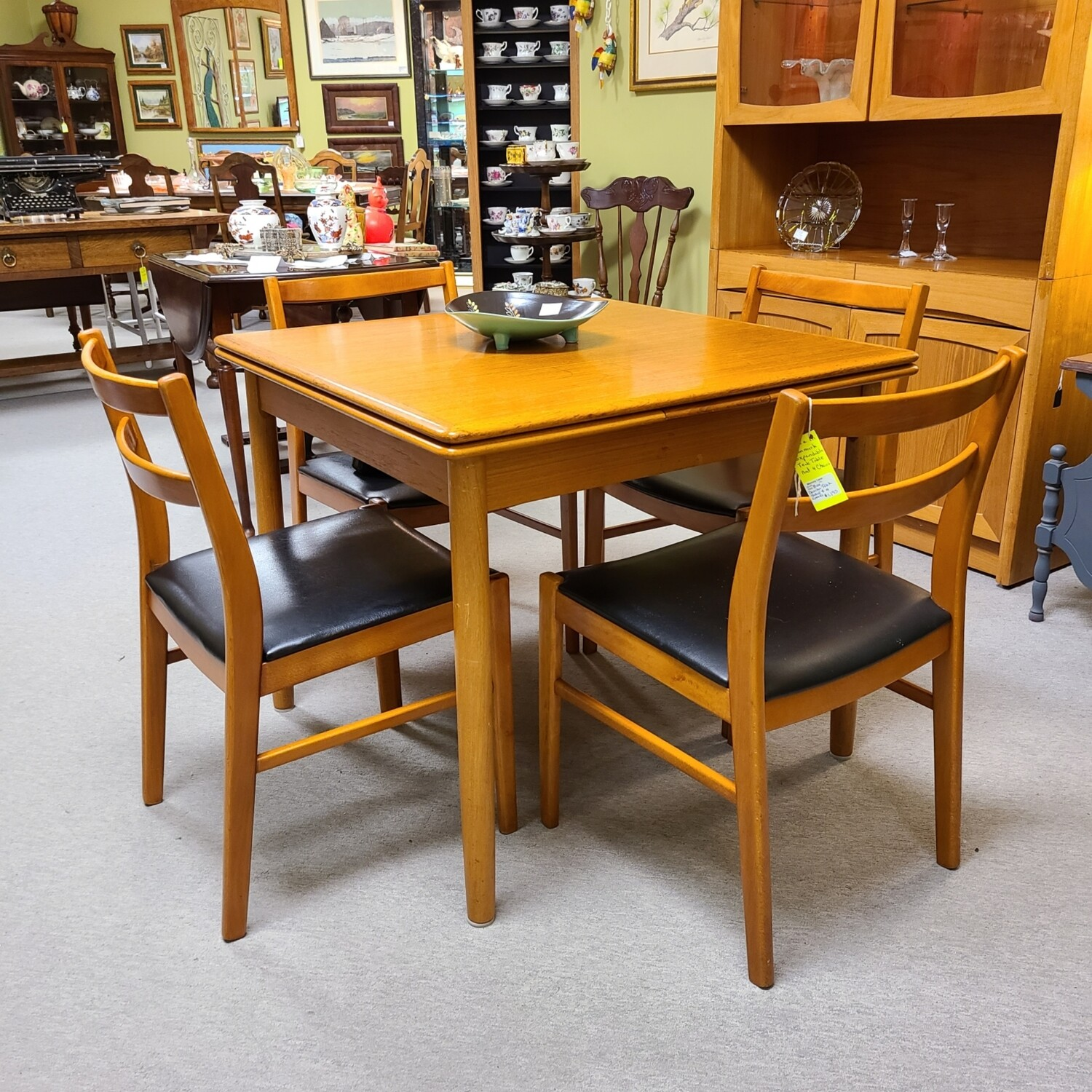 Teak Table with Four Chairs