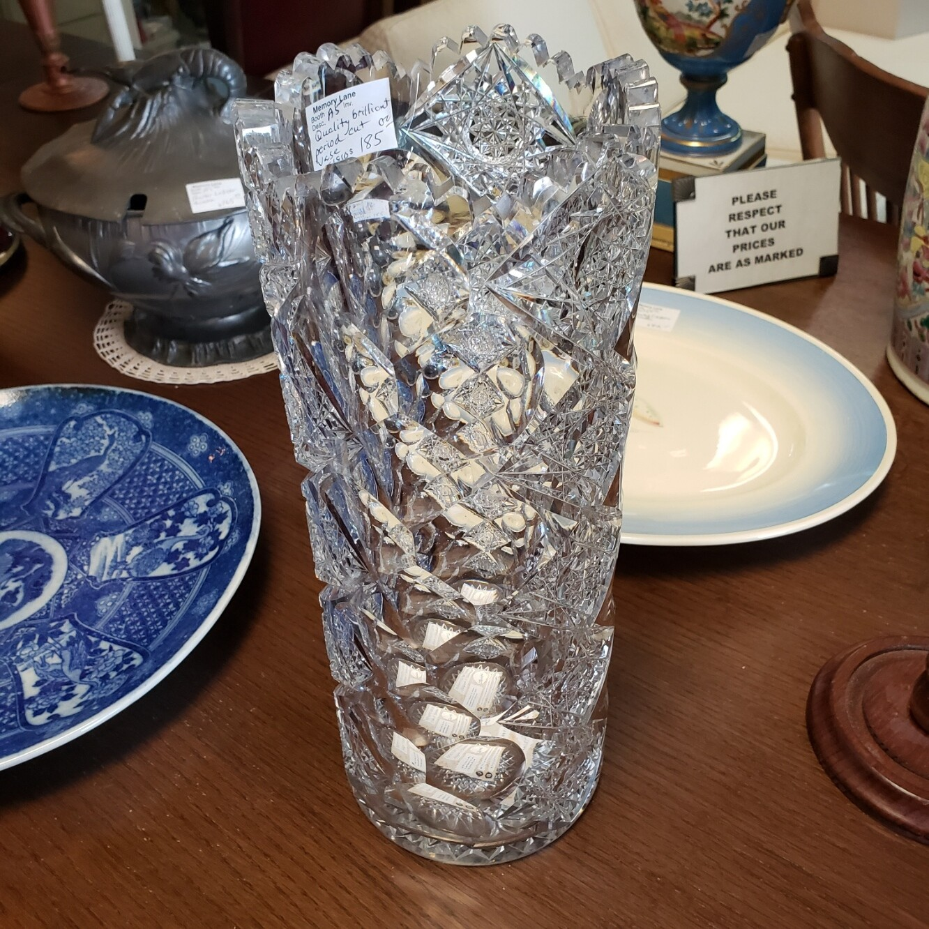 Hand Cut Crystal Vase