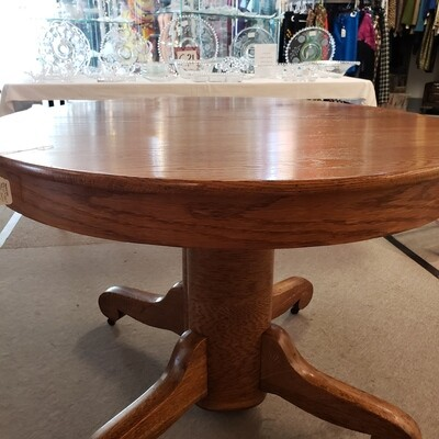 "Round Oak Tilt Table 42"" Round"