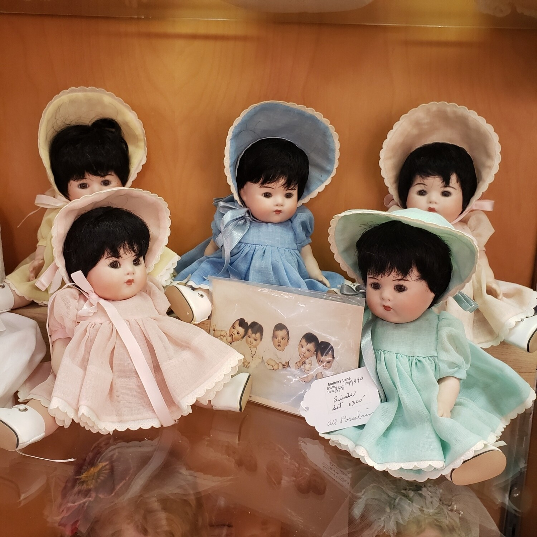 Porcelain Dionne Quintuplet Dolls