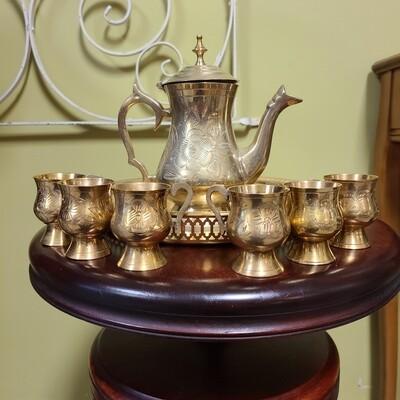 Brass 8 Piece Serving Set