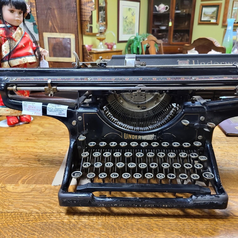 1920s Underwood Wide Carriage Typewriter