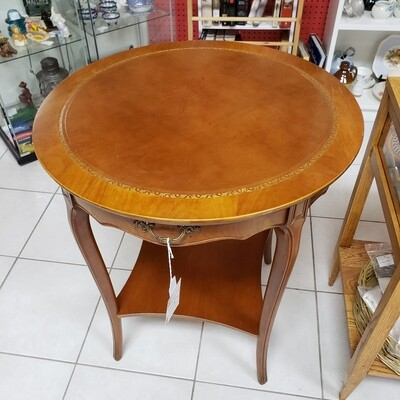 Leather Top Side Table - B33