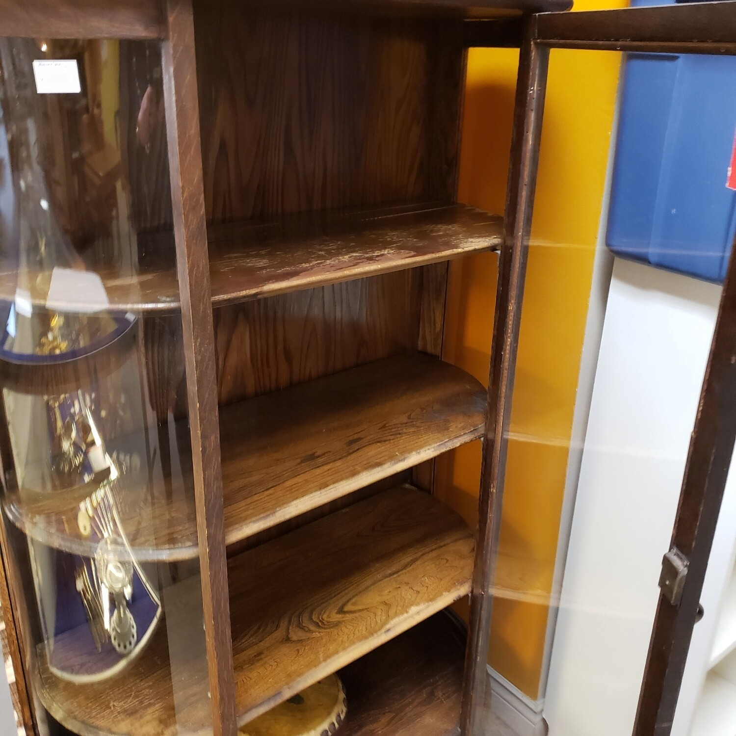 Bow Fronted Cabinet - B24