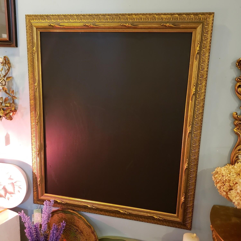 Large Black Board with Gold Frame - V55