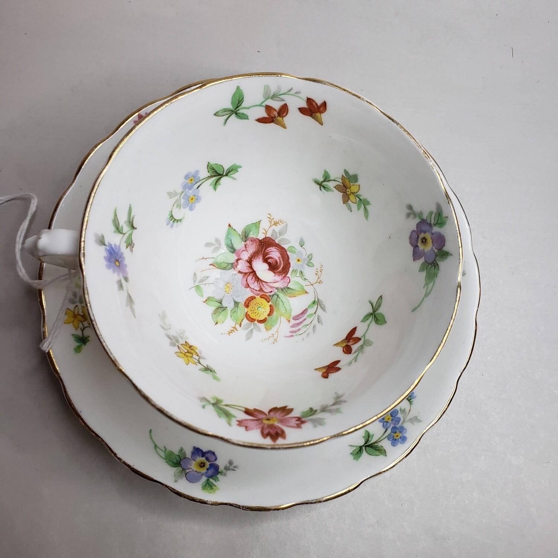 Tuscan English Bone China -  Tea Cup & Saucer - Booth B52