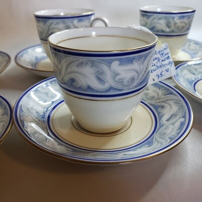Royal Doulton - Fine China Espresso Set (6) Cups and Saucers - A58