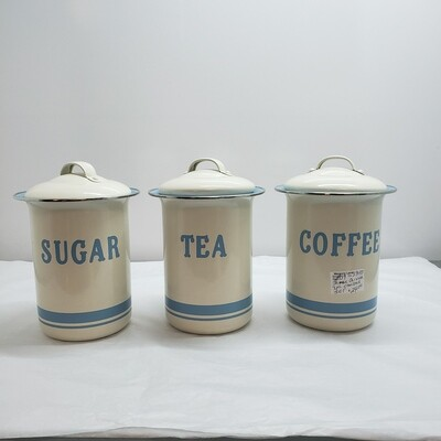 1950s Chromium RetroKitchen Cannister Set 3 pc set - A39
