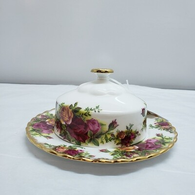 Royal Albert Covered Butter Dish - Old Country Roses - C21