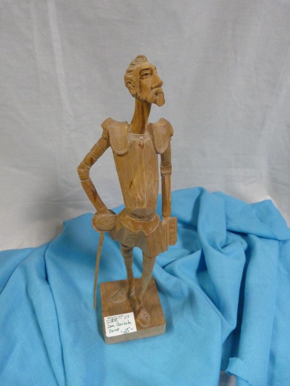 Don Quixote - Carved Wood Sculpture - B85