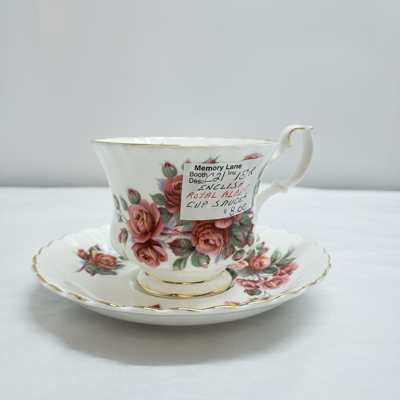 Royal Albert Tea Cup & Saucer - Centennial  Rose  - C21