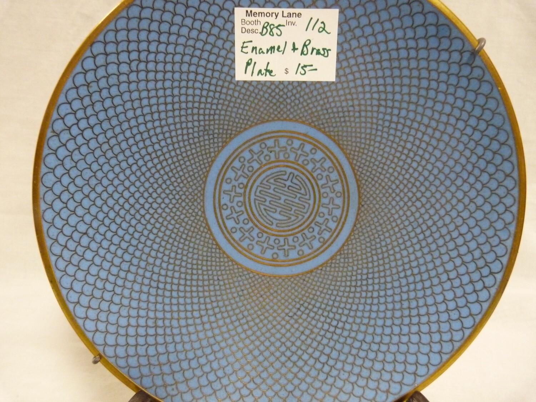 Oriental Blue enamel plate  - Booth B85