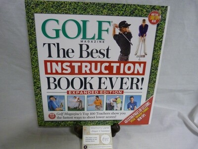 Coffee Table Book - Golf The Best Instruction Book Ever - B85