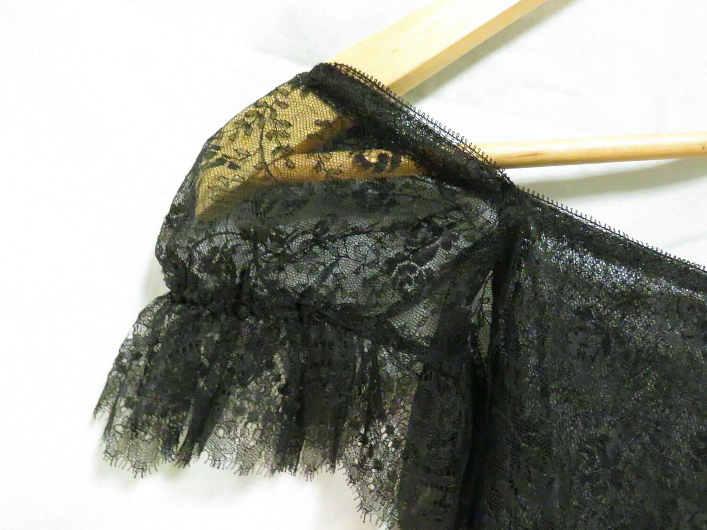 1920's Drop waist black lace Dress - B85