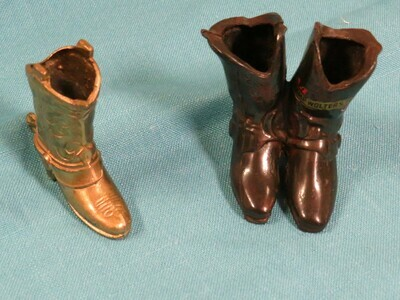 Cow Boy Boot - Match Holder Tooth Pick Holder - B85