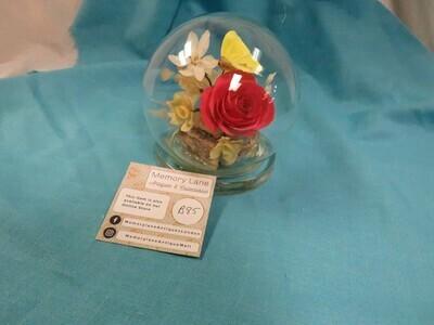 Glass Dome - Flower - B85