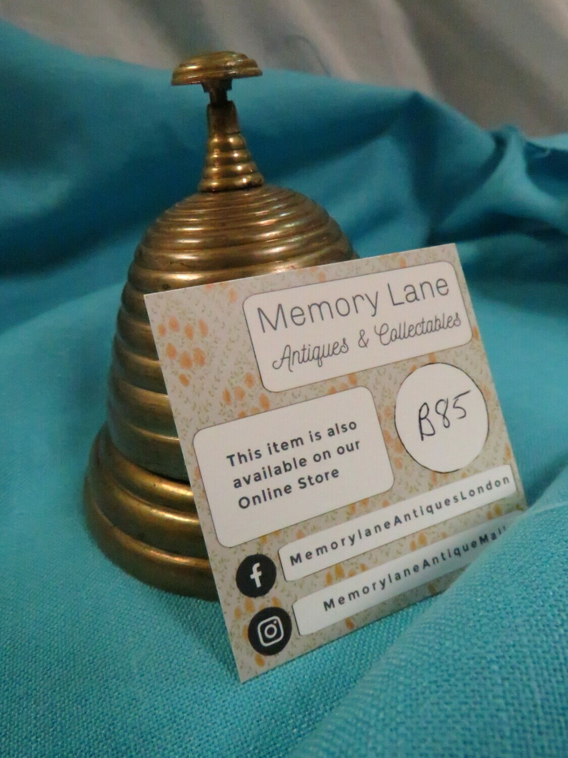 Beehive Brass Tap Bell Bell Vintage - silver plate - B85