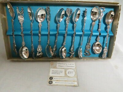 Complete Zodiac Coffee Spoons - 12 - B85