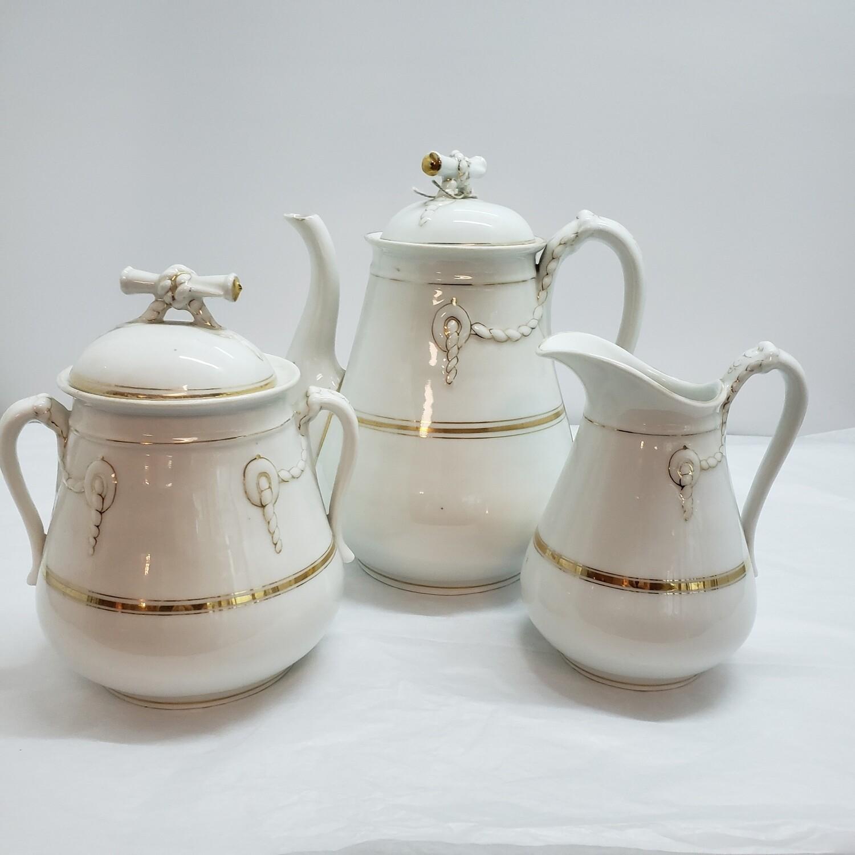3 pc Tea Set circa 1800's  - A58