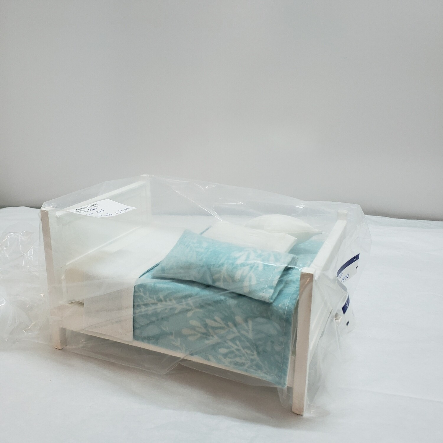 Doll House Furniture Double Bed - B60