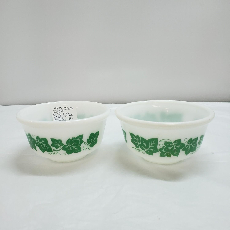 Set of 2 Ivy Hazel bowls- D53
