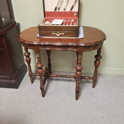Oval turned table - C21