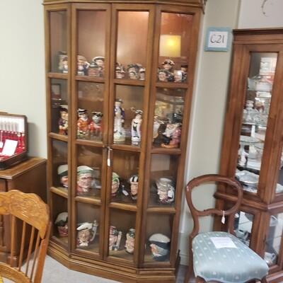 Walnut Curio Cabinet - C21