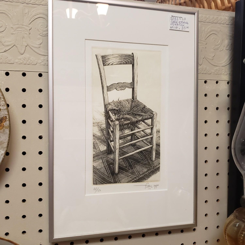Chair Etching - B3
