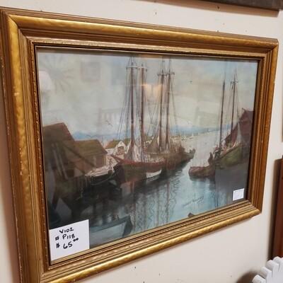 Pastel Sail boats- V102