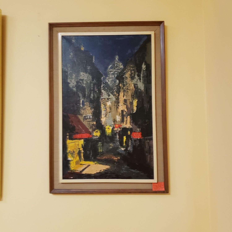 Mid Century Oil Painting  - B73