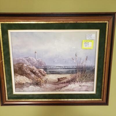 Landscape Oil Painting Signed - B44