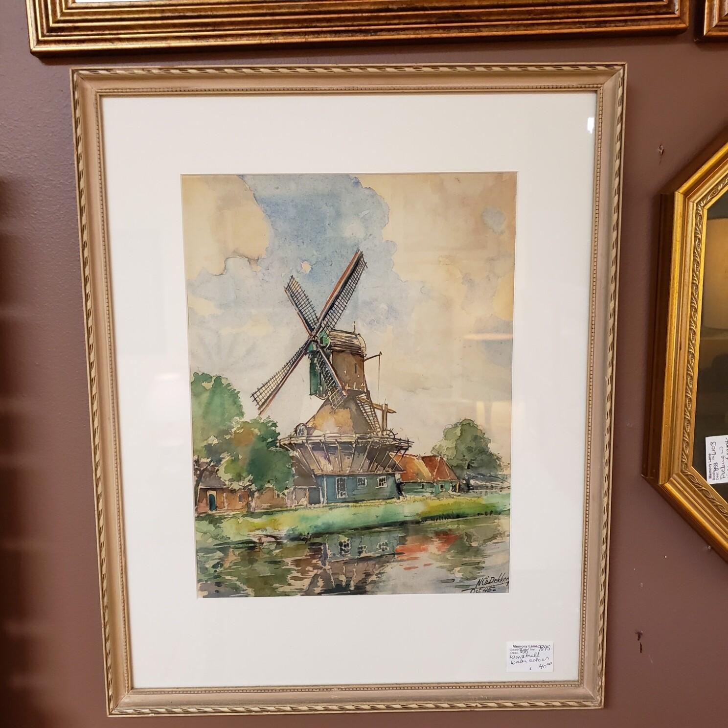Windmill Watercolour - B58