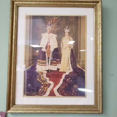 King George V & Queen Elizabeth Portrait - A25