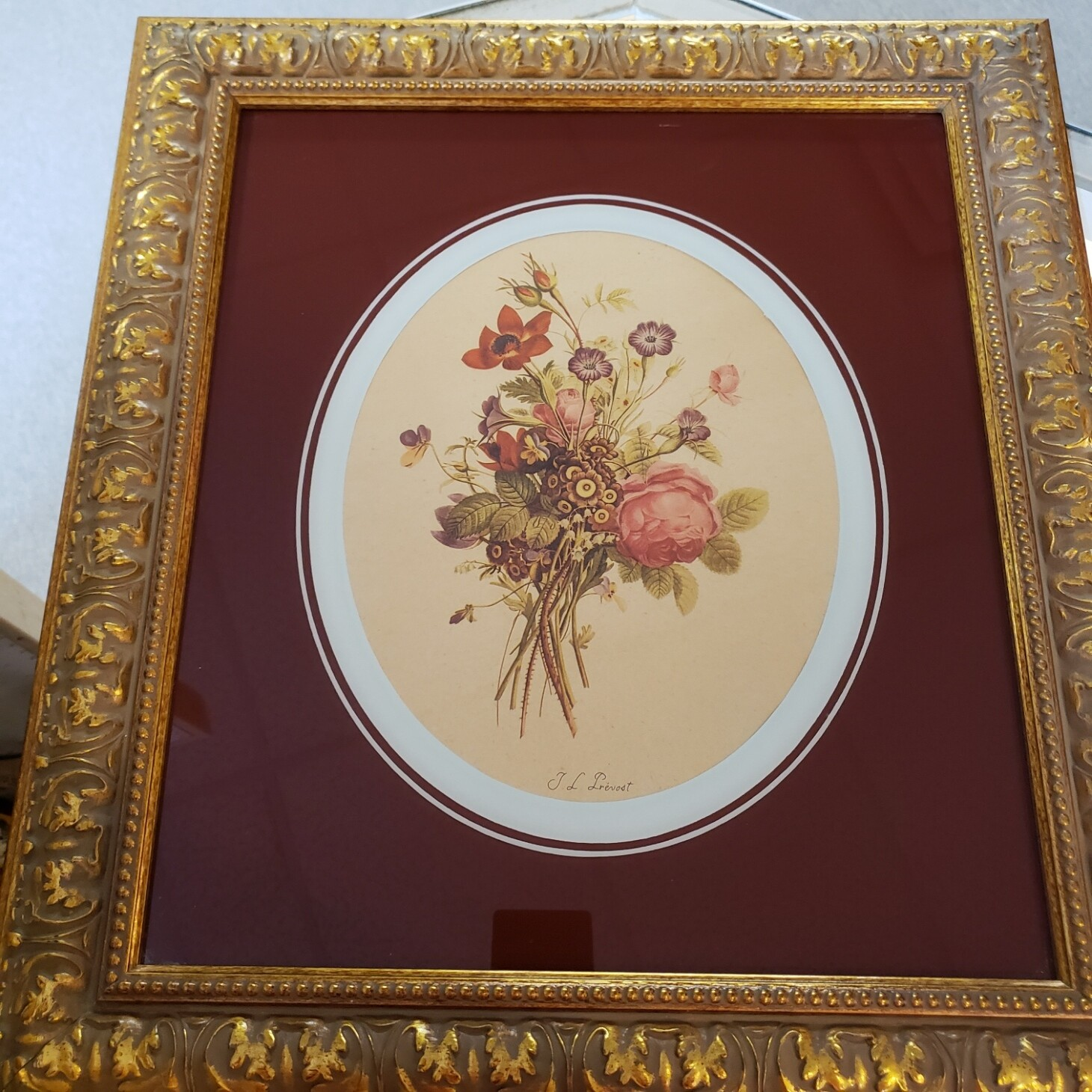 Floral In Gold Frame - A25