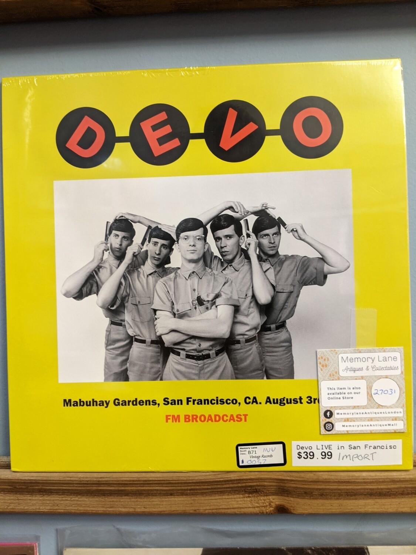 Devo - LP - FM Broadcast SF