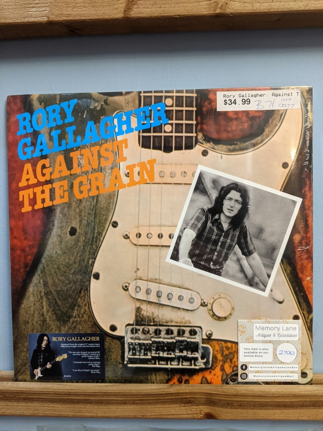 Rory Gallagher - LP - Against The Grain