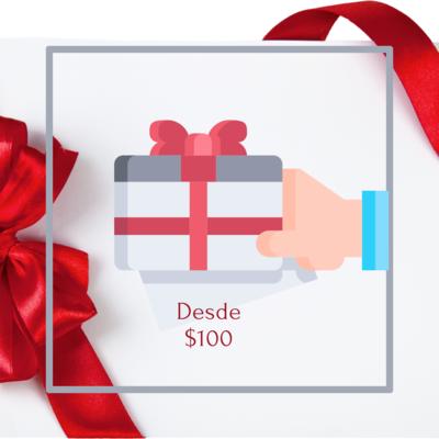 Tarjeta regalo desde $100