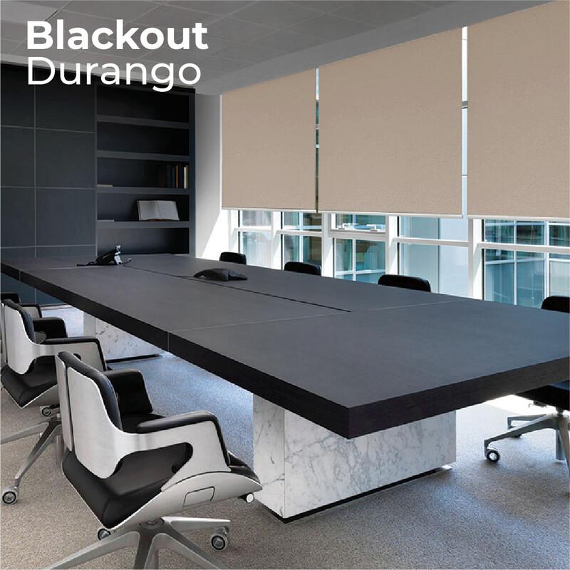 Cortina Roller Blackout Durango - 1.2m ancho x 2.4m alto