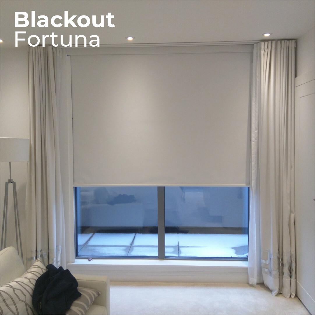 Cortina Roller Blackout Fortuna - 1.8m ancho x 1.65m alto
