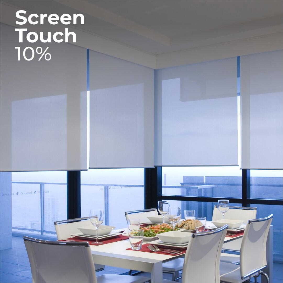 Cortina Roller Screen Touch 10% - 1.2m ancho x 2.4m alto