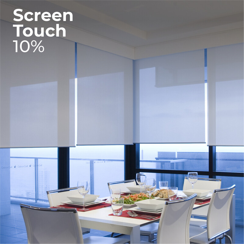 Cortina Roller Screen Touch 10% - 1.5m ancho x 2.4m alto