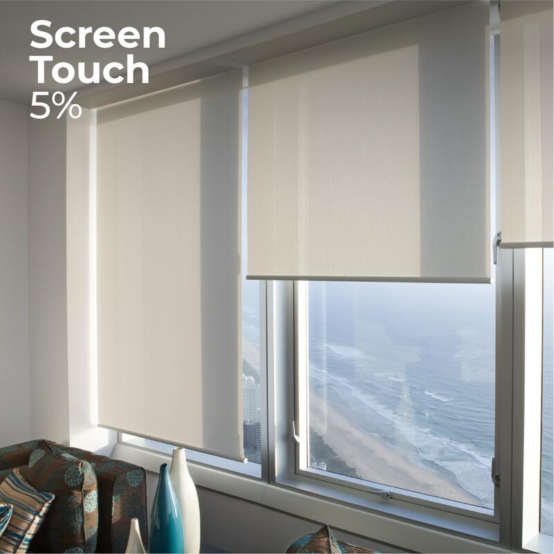 Cortina Roller Screen Touch 5% - 1.5m ancho x 2.4m alto