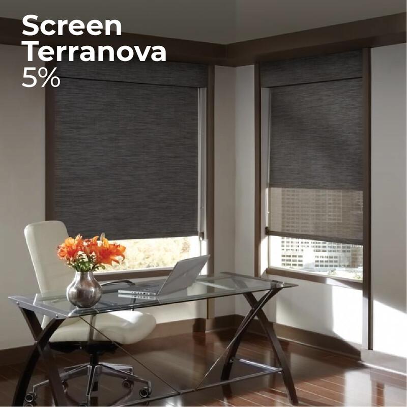 Cortina Screen Terranova - 1.2m ancho x 2.4m alto